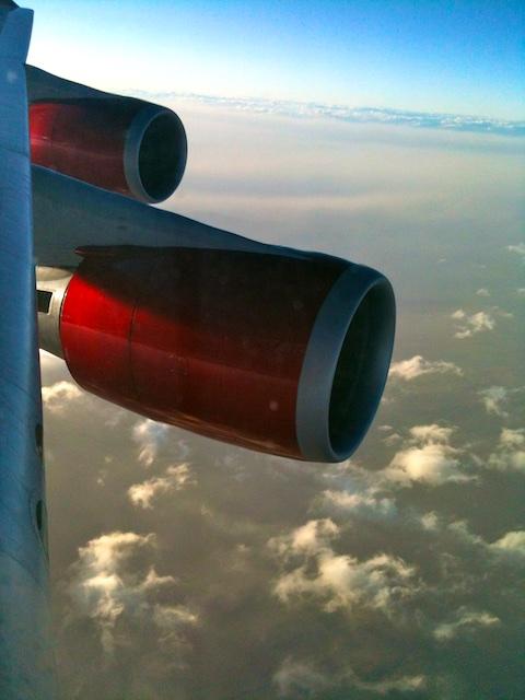 Virgin Atlantic flight, London bound