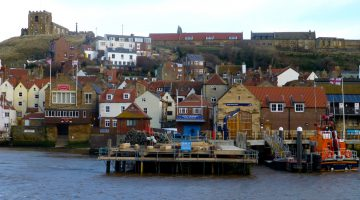 The Whitby harbour. North Yorkshire, England