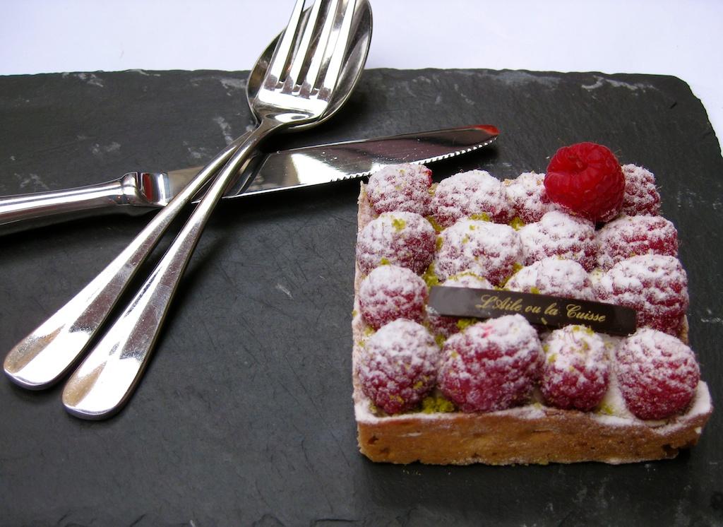 Raspberry desert at La Gousse D'Aile, St Remy de Provence