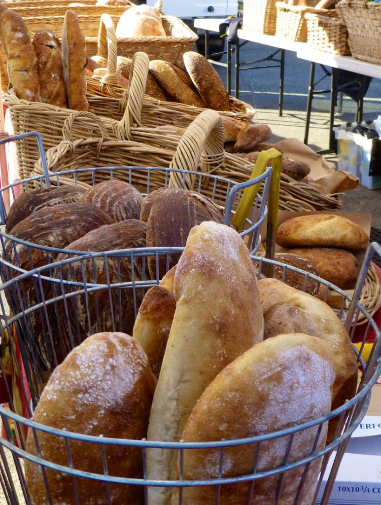 Bread for sale at the Ferry Building market