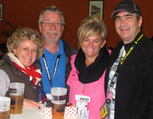 Friends at Le Mans 24 hour car race, Le Mans, Loire Valley, France