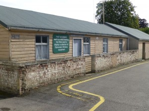 Huts at Bletchley Park where the Enigma code was cracked