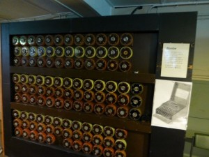 The 'Bombe' invented by Alan Turing which helped crack the Enigma code