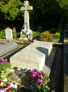 Churchill's grave at St Martin's Church, Bladon, near Blenheim Palace