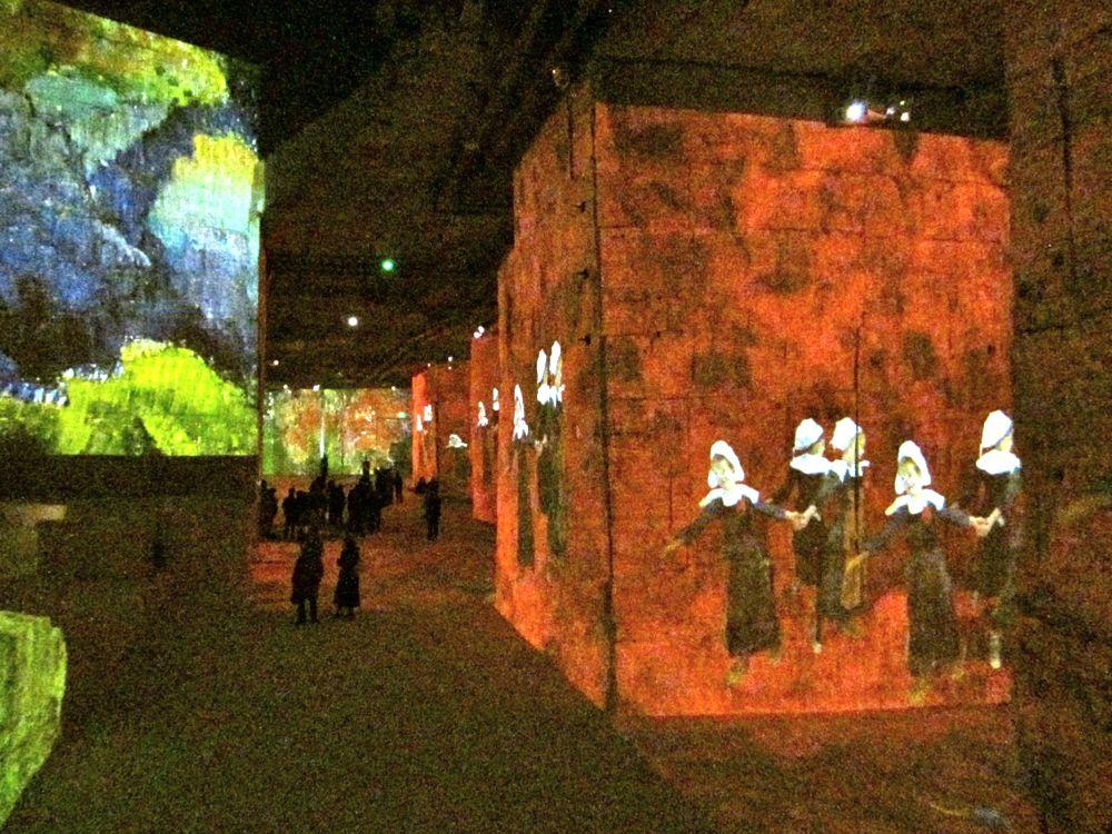 Paul Gauguin's art in the video show of Carrières de Lumières near Les Baux de Provence, France