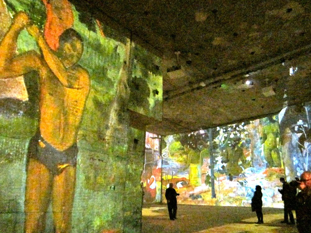 Art of Paul Gauguin at the Carrières de Lumières Les Baux de Provence