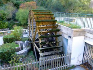 Water mill for the paper mill in Fontaine de Vaucluse, Provence, France