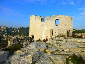 Ruins of the chateau at Les Baux-de-Provence
