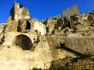 The Chateau ruins at Les Baux -de-Provence, Provence, France