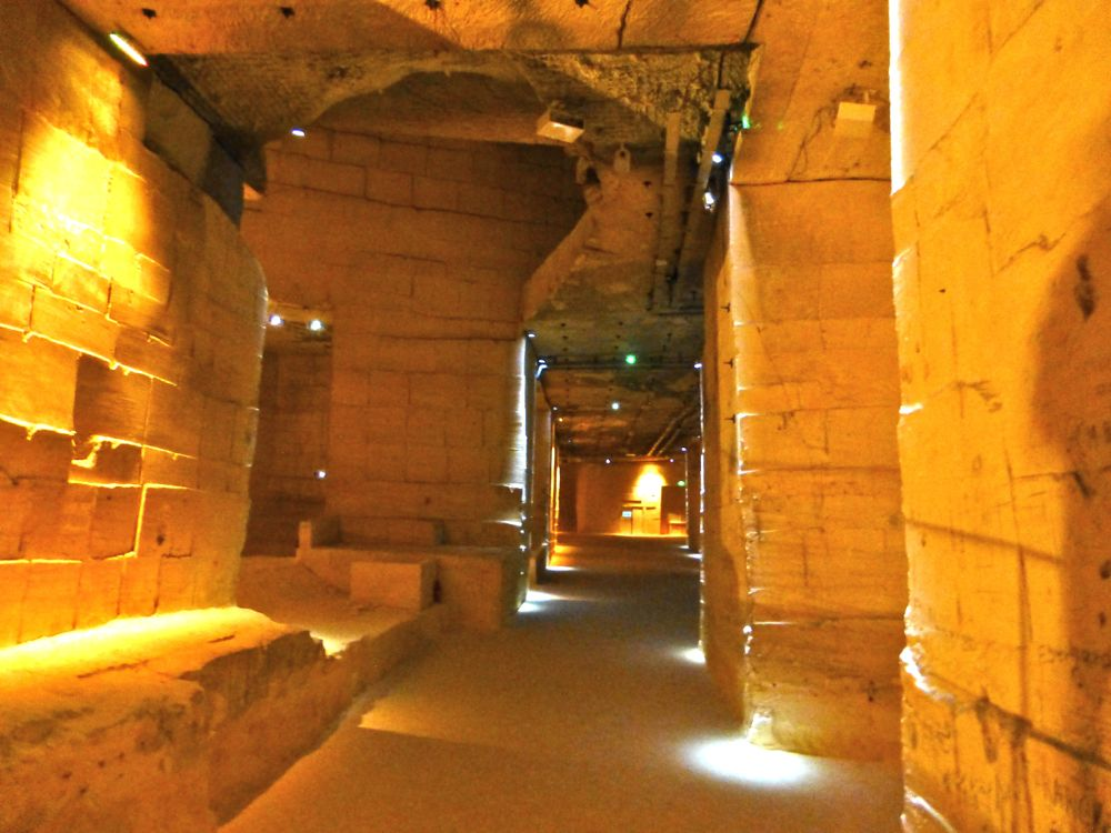 Carrières de Lumières - inside the theater, a former bauxite quarry, Provence, France