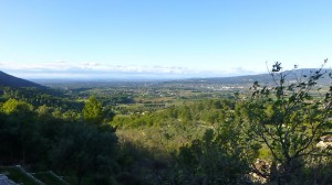 View of Luberon Valley from the castle at Oppede les Vieux, Provence, France
