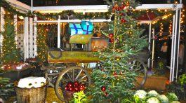 Christmas market stall in Tivoli Gardens, Copenhagen, Denmark