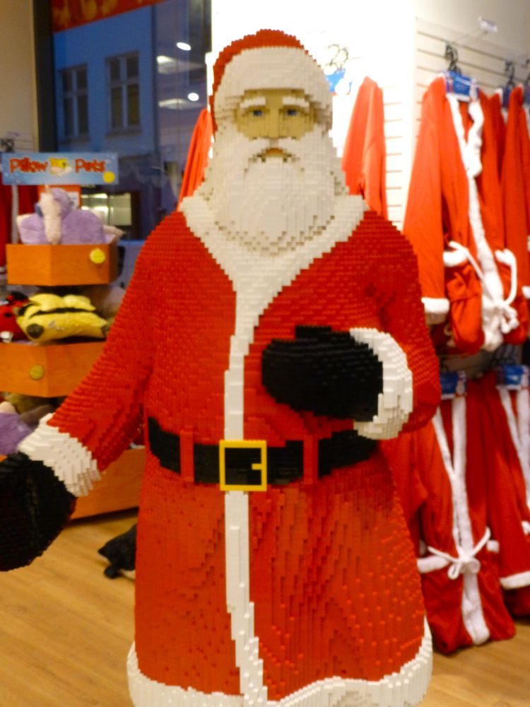Santa in Lego at Copenhagen's flagship Lego store