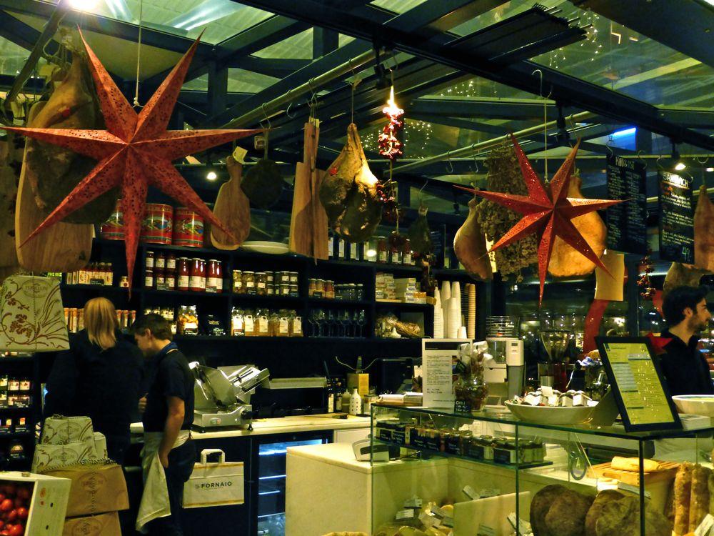 Italien food for sale at the Copenhagen Glass market, Copenhagen, Denmark