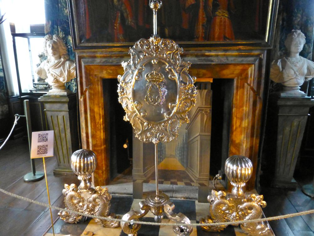 A fireplace at The Rosenborg Palace, Copenhagen, Denmark