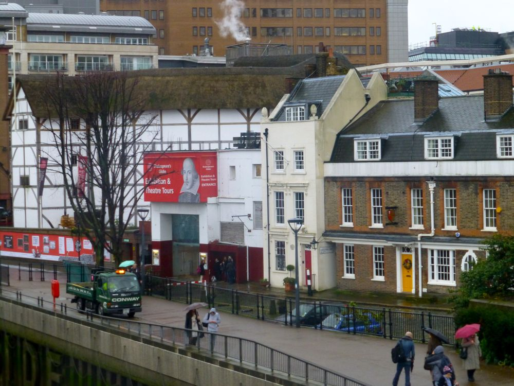 The Globe Theatre, from the Millenium Bridge, London, England