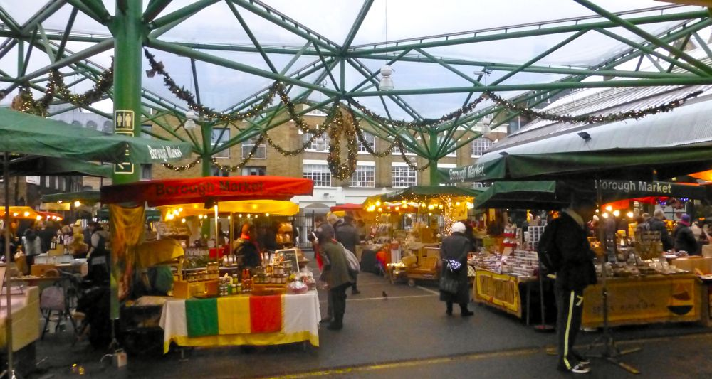 London's Borough Market,England,Christmas 2012
