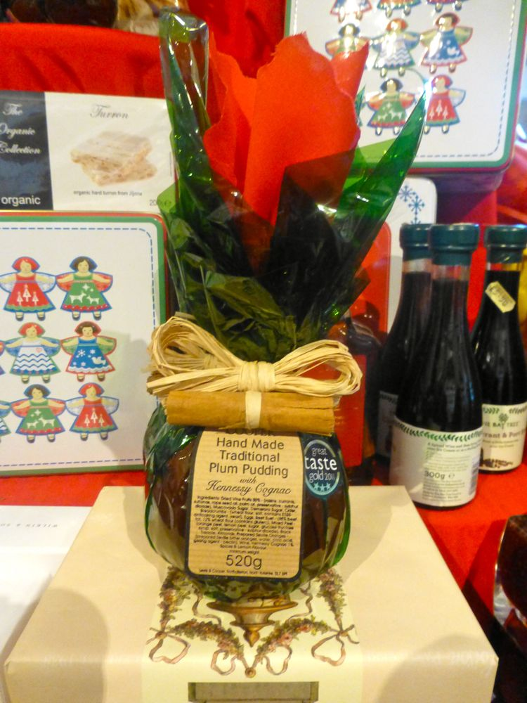 Christmas puddings at the farm shop at Castle Howard, North Yorkshire, England