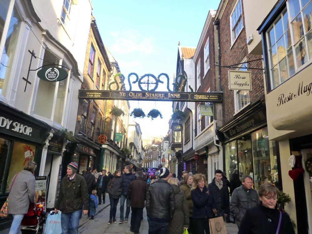 The streets in York, England, Christmas 2012