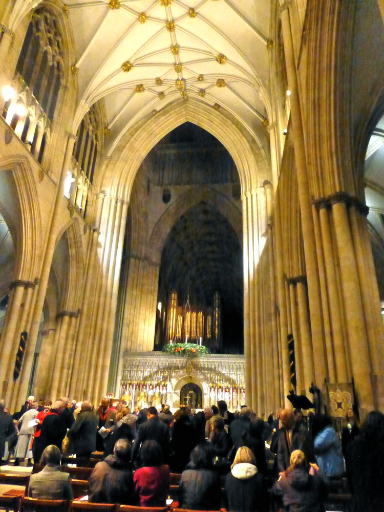 Inside York Minster, York, England, Christmas 2012