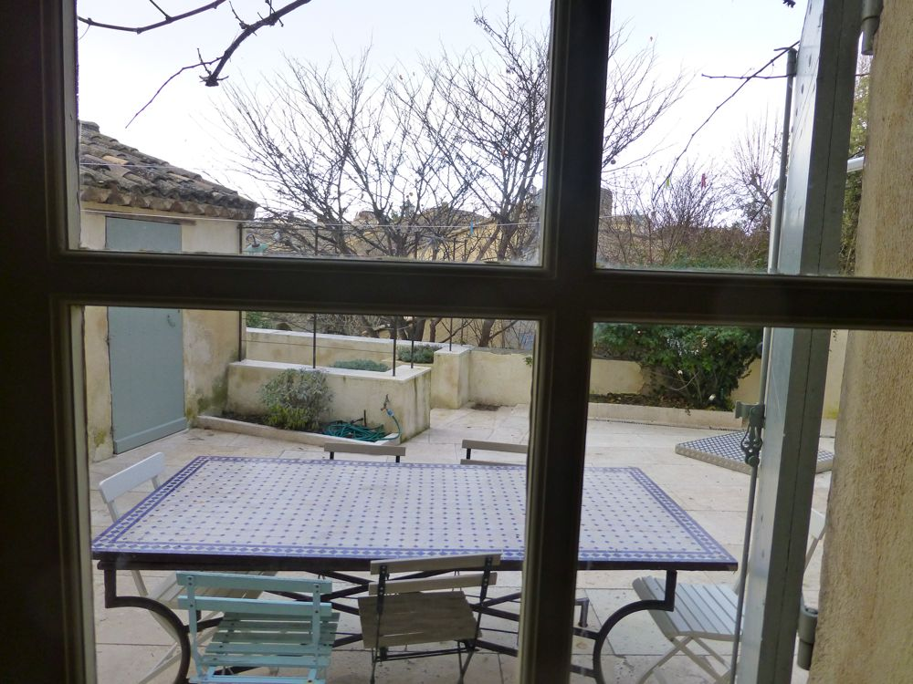 View from the French doors, Provence, France, in January