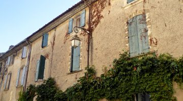 Shutters in Lourmarin, Luberon, Provence, France