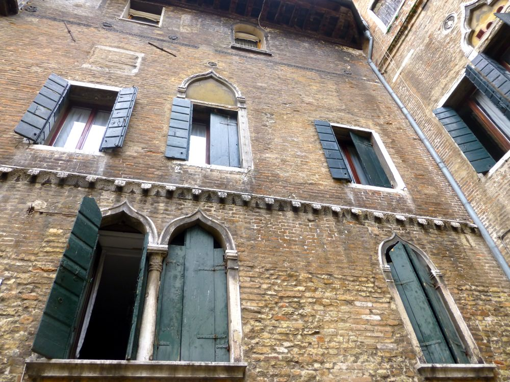 800 year old property in the Piazza where Marco Polo lived in Venice