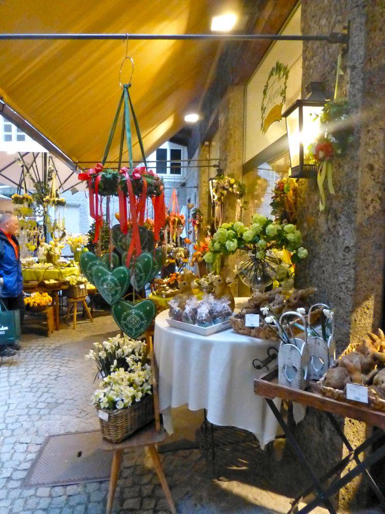 A Florist in Old Salzburg's (Austria) passageways