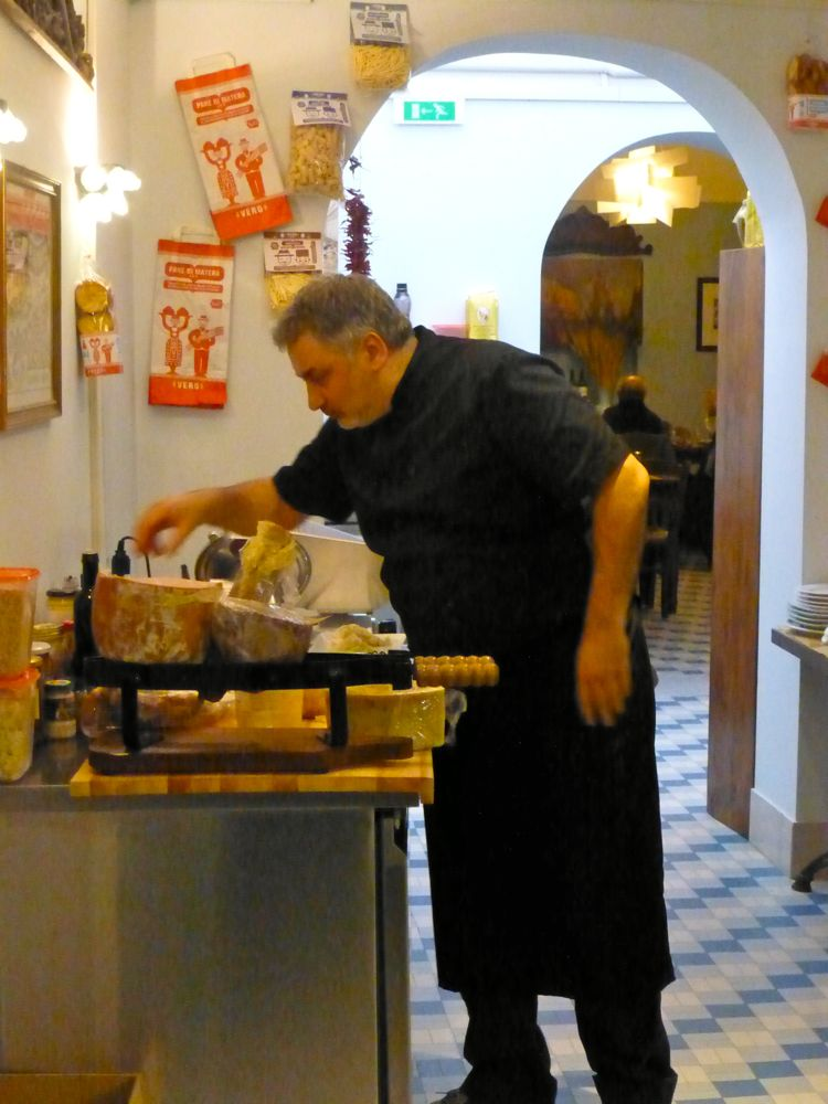 At work in the Trattoria, Venice, Italy