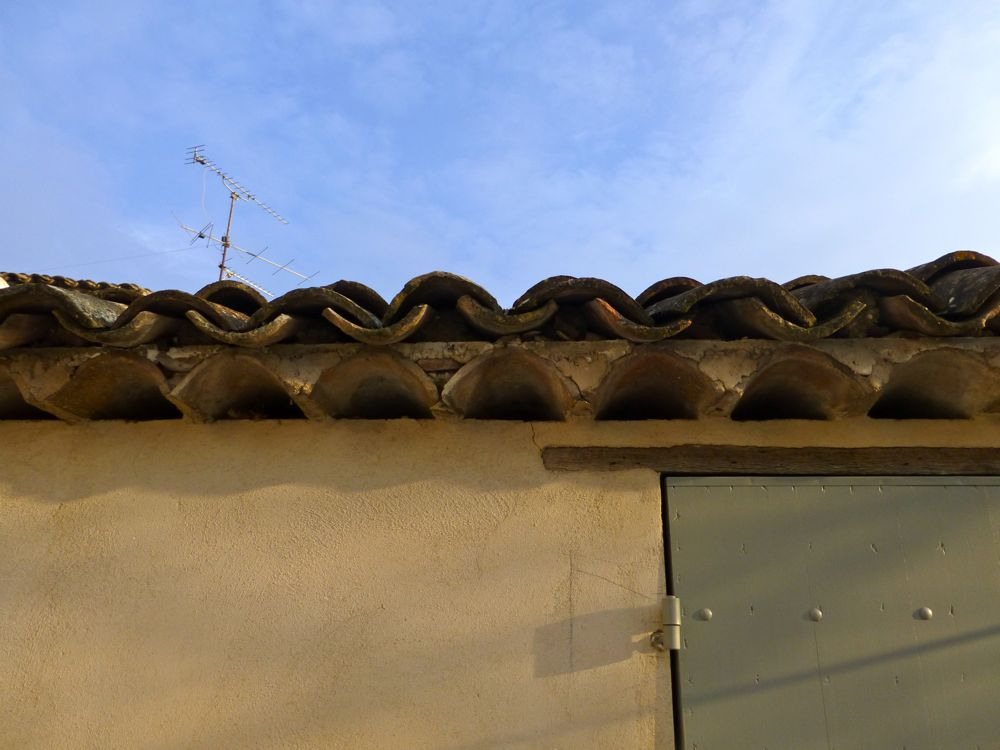 Clay tile Provencal roof