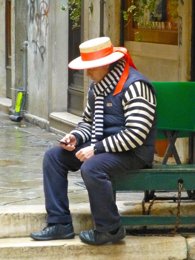 Gondolier looking for his gondola!