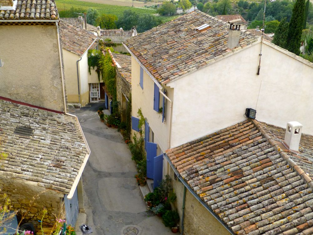 Shallow pitched Provencal roof tops