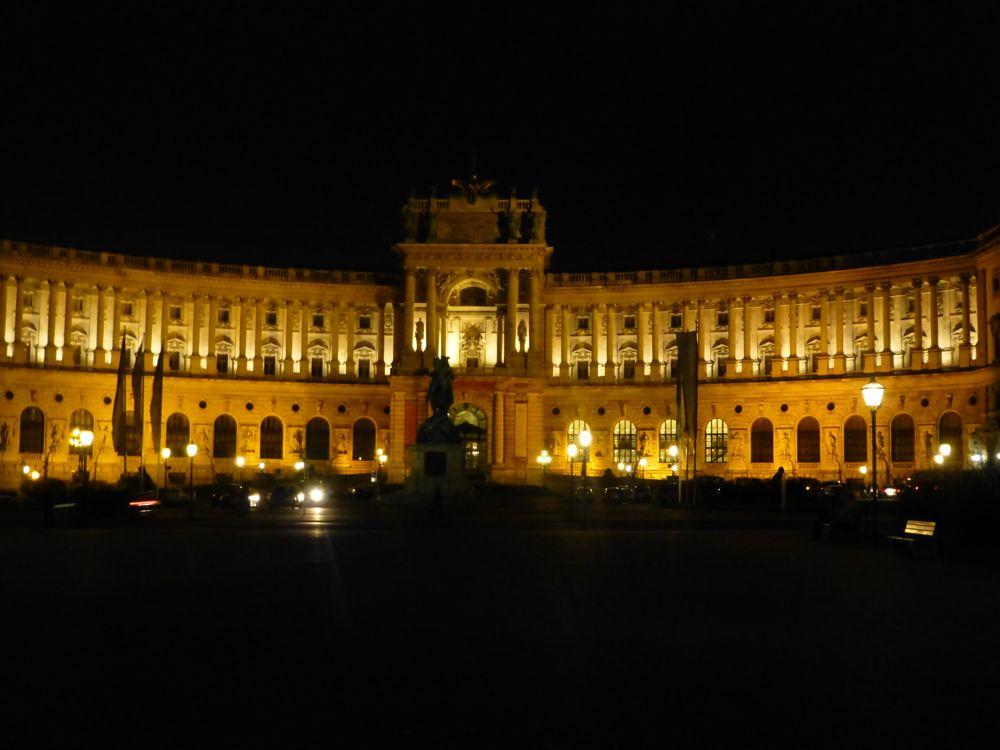 The Hofburg Vienna at night