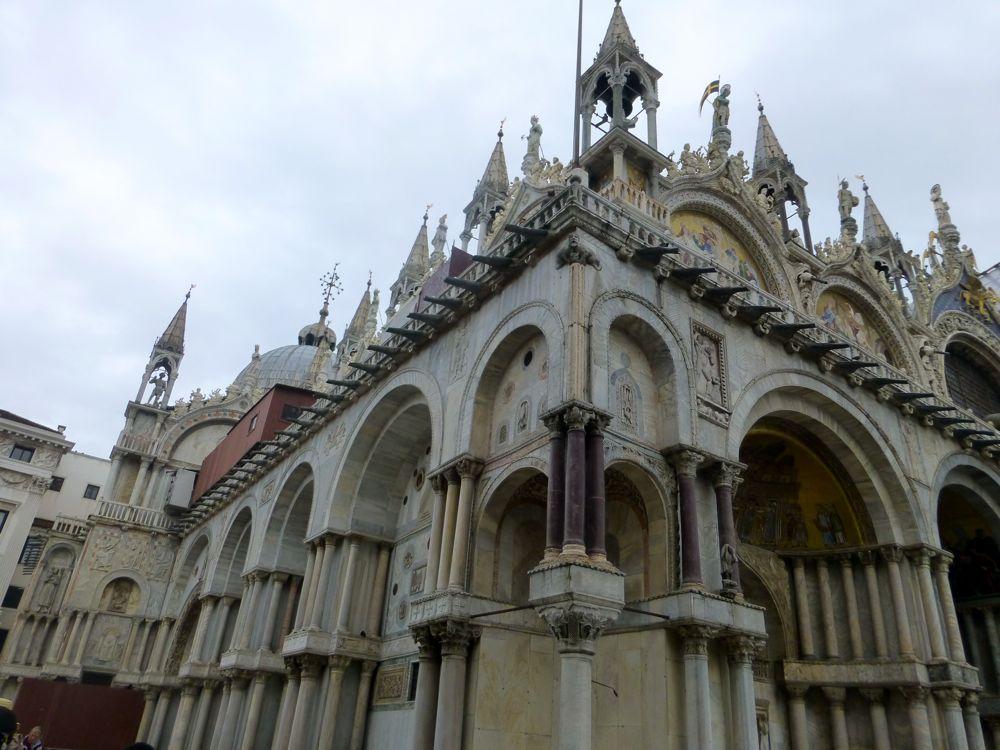 marble veneer buildings in Venice Italy