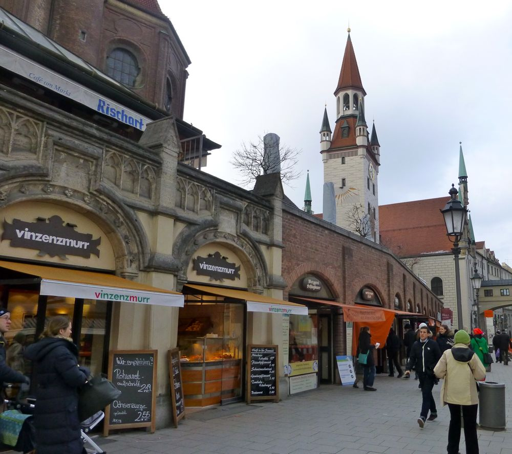 Butchers at the Munich Market, Marienplatz