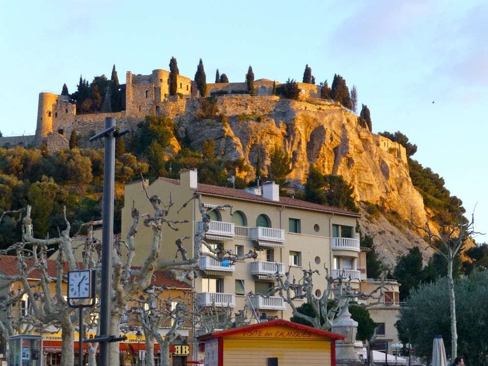 Chateau in Cassis, Provence at twilight