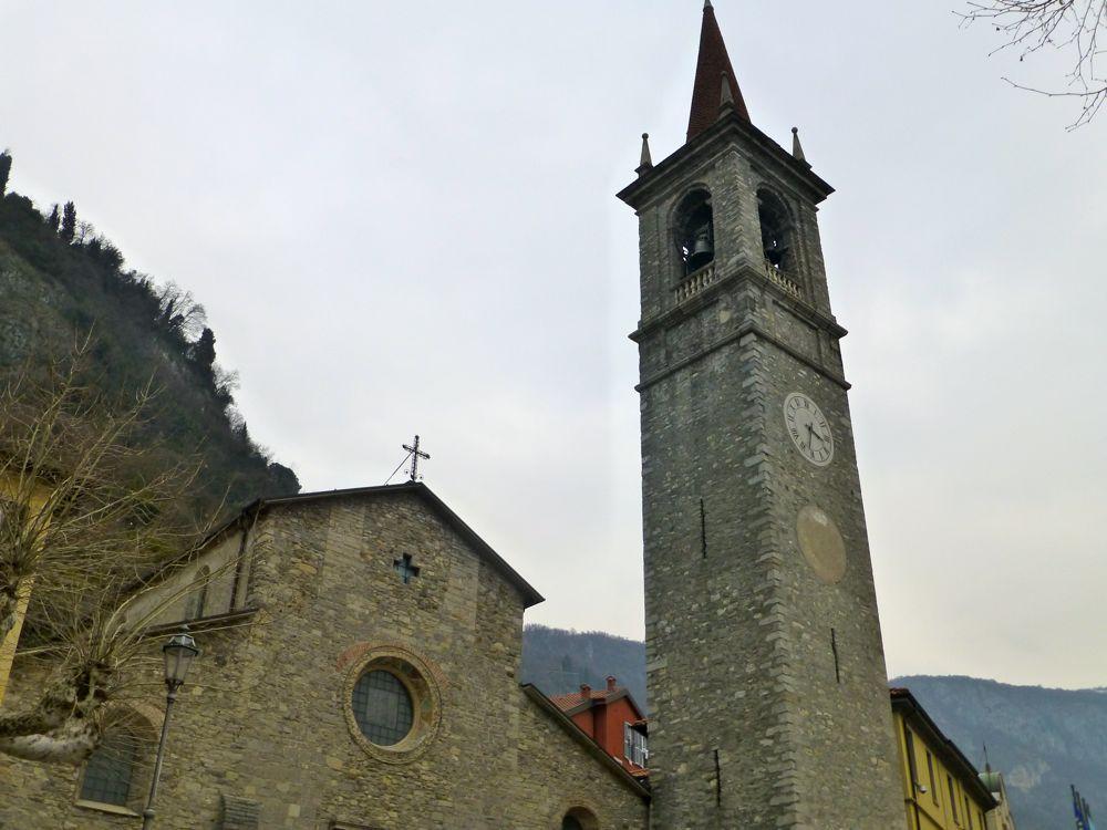 Church in Varenna, Lake Como, Italy