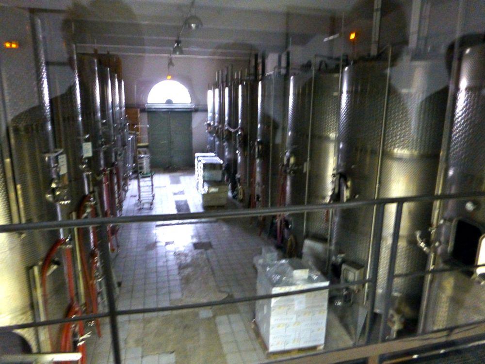 Fermenting room at Domaine de la Citadelle, Menerbes, Luberon, Provence, France