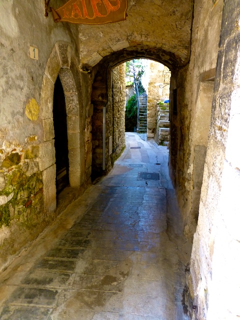 Medieval Street in Roquebrune-Cap-Martin, Cote d'Azur