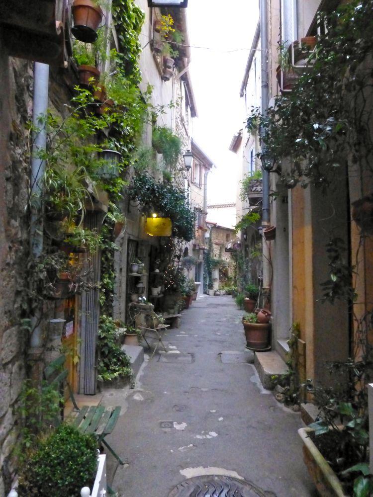 Street in Mougin, Cote d'Azur, France