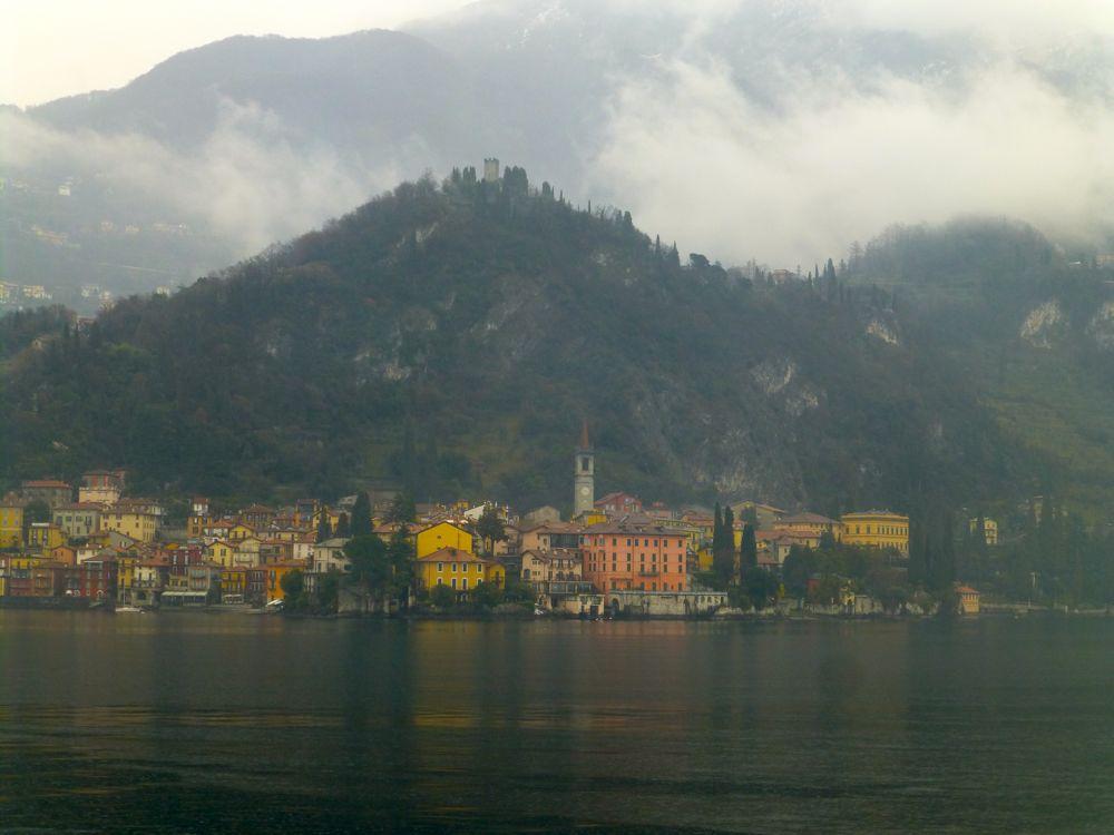 Varenna Lake Como from the ferry in the rain!