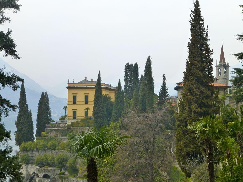 Villa view in Varenna, Lake Como, Italy