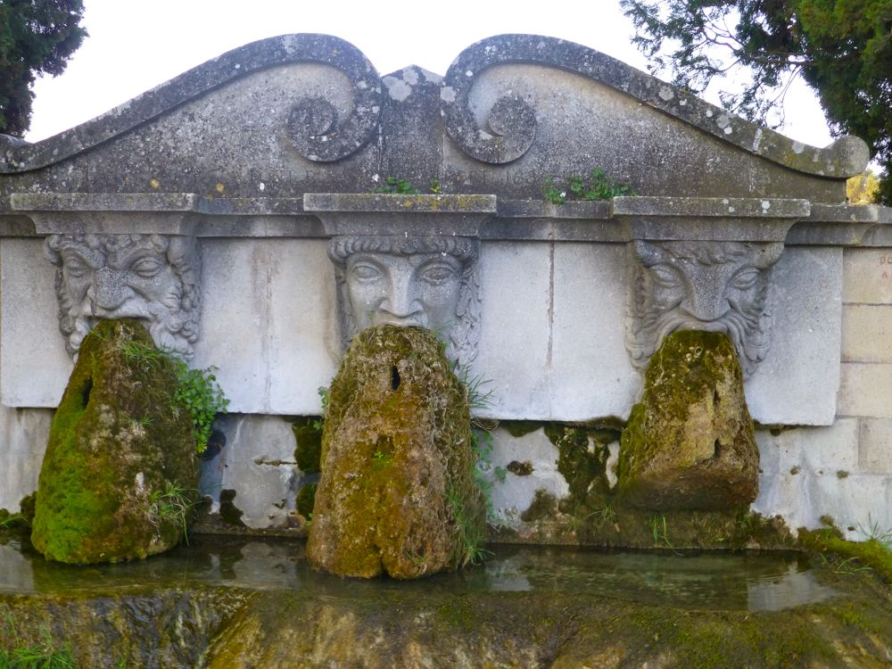 3 spirits of the Lourmarin fountain, Luberon, Provence, France