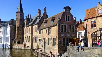 Bruges, Belgium by the canal