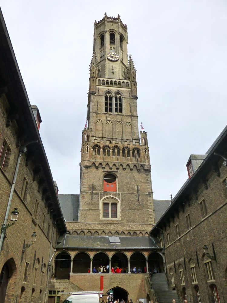 Bruges Belfry from its interior courtyard