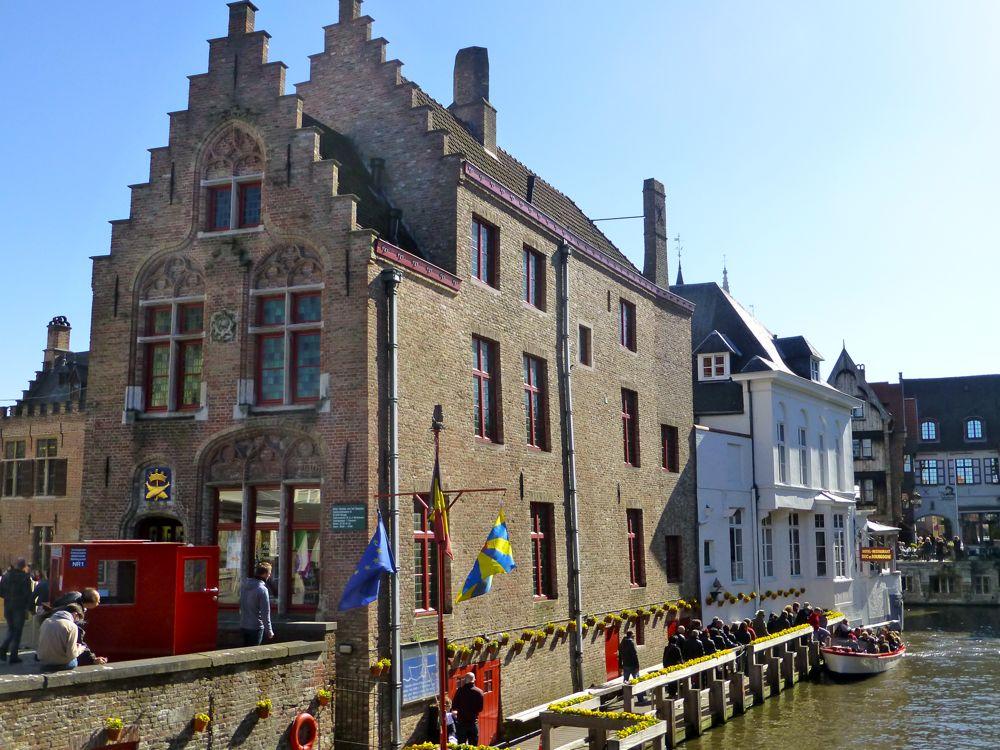 Canal tours in Bruges, Belgium