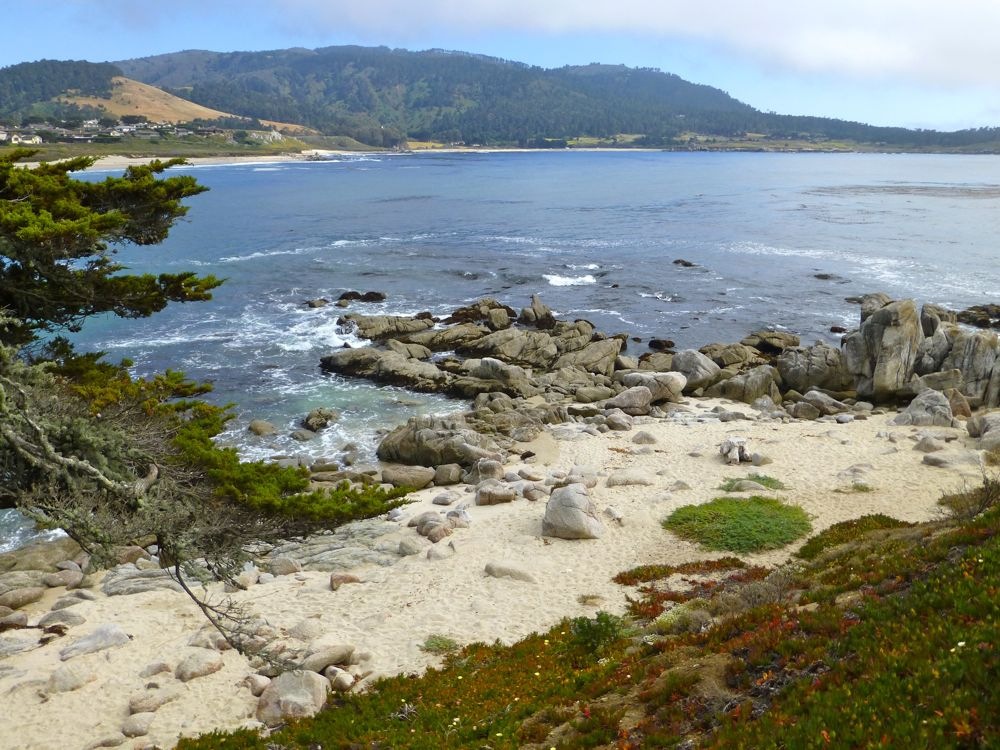 Carmel, across River Beach, towards Carmel Highlands