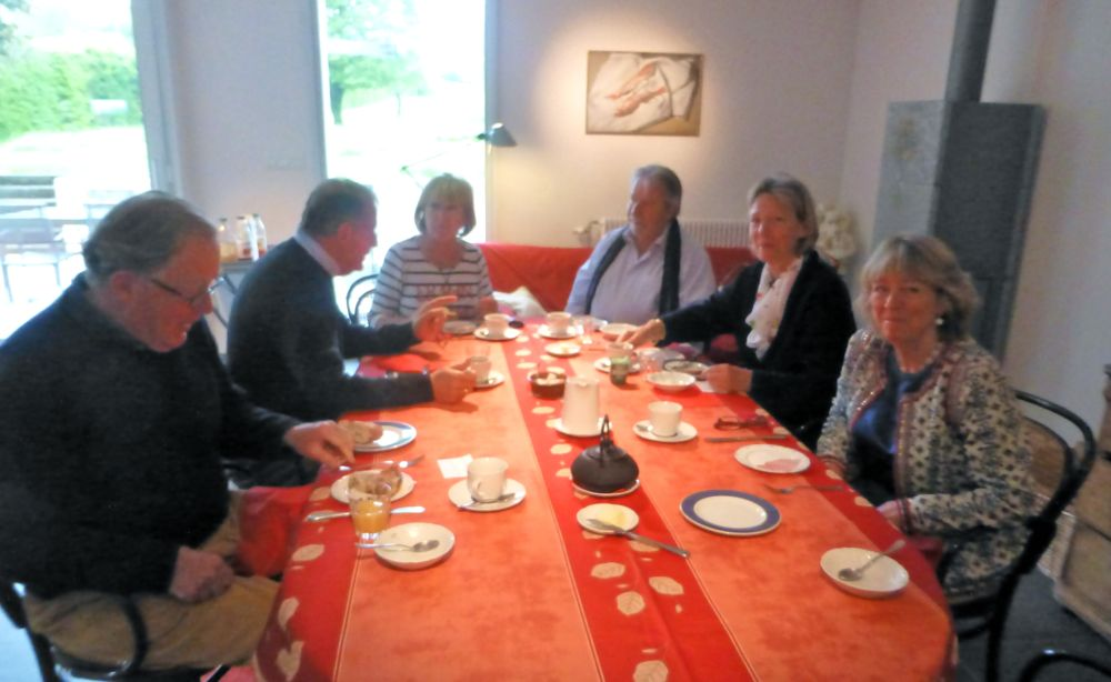 Kitchen at Guests at Le Crot Foulot, Chambres d'Hôtes de Charme. Chalon-sur-Saone, Burgandy, France