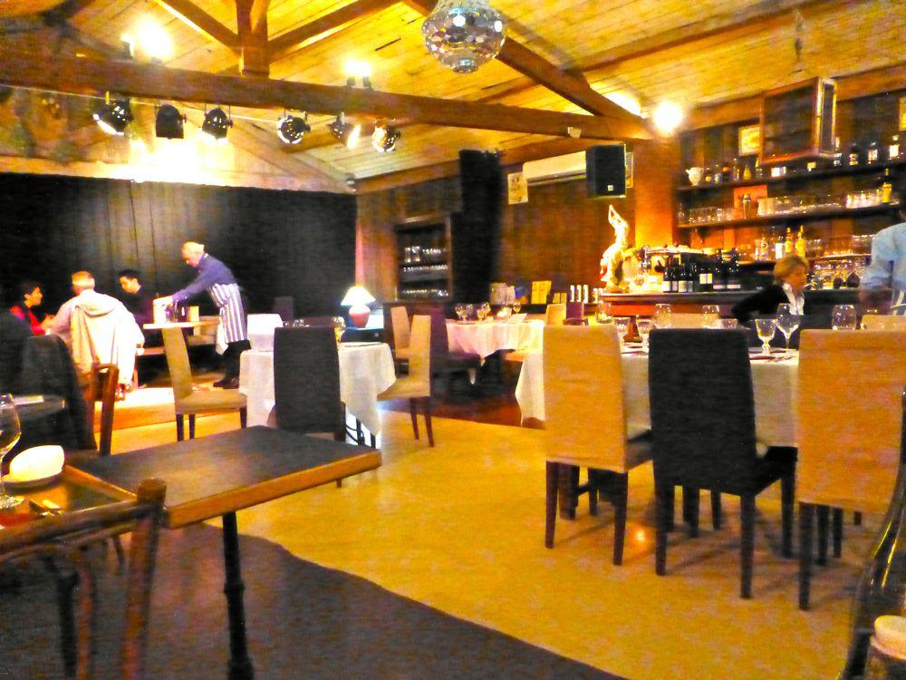 Inside Bistrot La Cour de Ferme Lourmarin, Luberon Valley, Provence, France