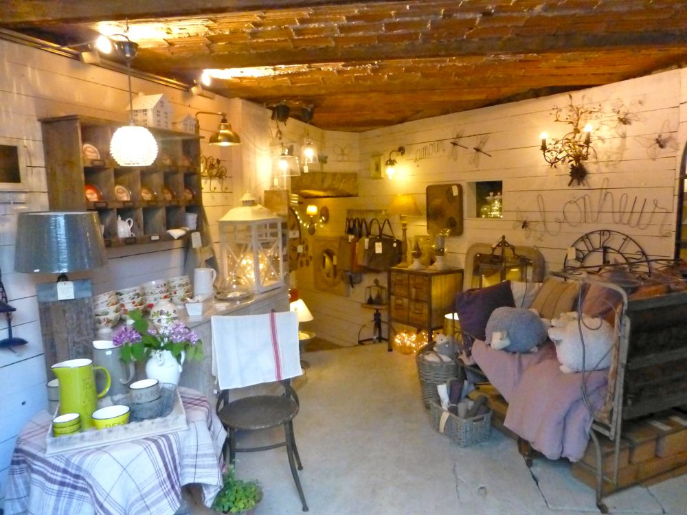 Inside La Colline gift shop in Lourmarin, Vaucluse, Luberon Valley, Provence, France